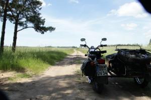 Auf vdem Weg nach Wigry- Rast auf dem Feldweg
